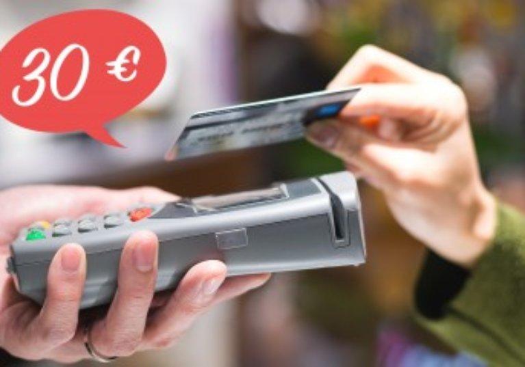 Paiement sans contact jusqu'à 30€: qui en bénéficie?