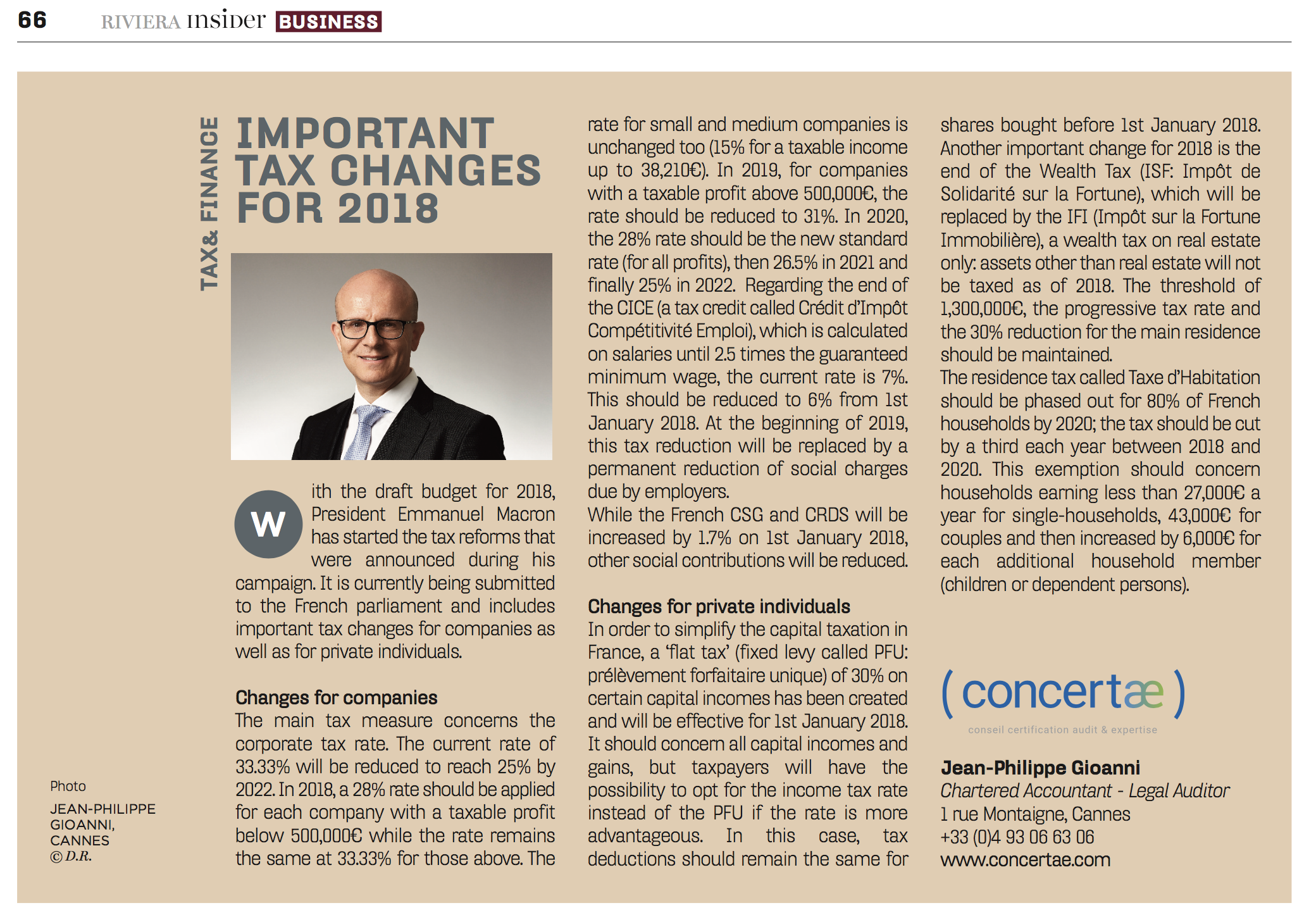 tax changes for 2018