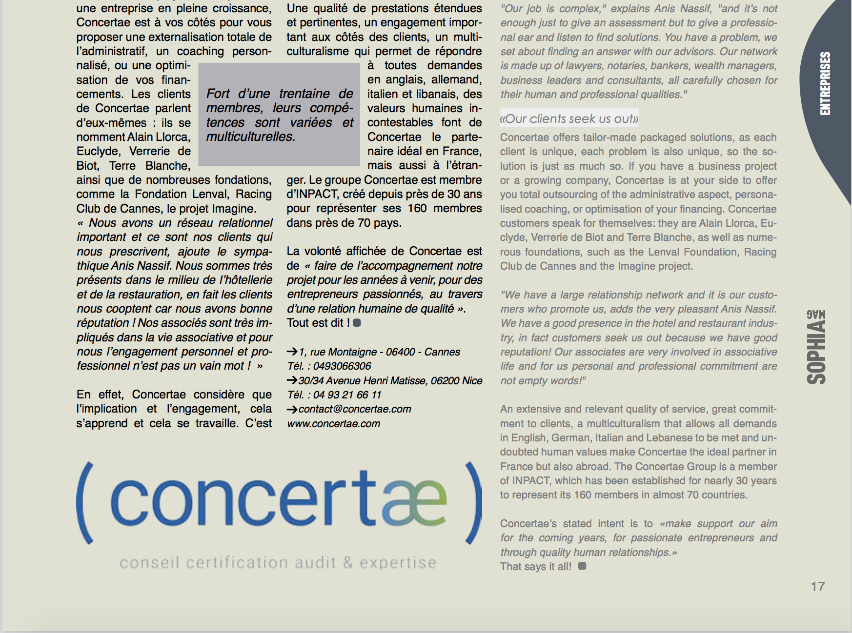 concertae chartered accountant